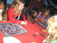 kids beading at Beverly's